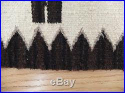 Vintage Yei Navajo Native American Rug Saddle Blanket Fred Harvey Ex. Condition