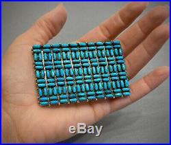 Vintage Zuni Native American Turquoise Belt Buckle RARE GORGEOUS MINT