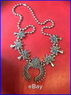 Vintage Zuni Squash Blossom Necklace