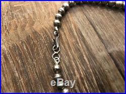 Vintage Zuni Squash Blossom Necklace Sterling & Turquoise marked E. Weeka Set