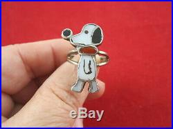 Vintage Zuni Sterling Silver Snoopy Ring