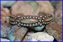 Vintage Zuni/navajo Cuff Bracelet, Royston Turquoise, Sterling, Signed D C
