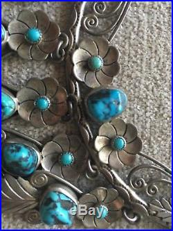 Vintage estate squash blossom necklace