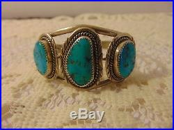 Vintage sterling Turquoise Cuff Bracelet Native American