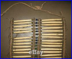 Vtg 19th Century Sioux Native American Hair Pipe Glass Brass Bead Breastplate