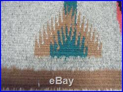Vtg Corn Stalk People 4 Figures Native American Yei Rug 41 X 31 Navajo Wool