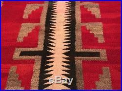 Vtg Navajo Rug Large Ganado eye dazzler native american 46x31 antique 1930s