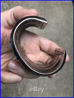Wow! Vintage Ervin Tsosie Navajo Sterling Silver Multi Stone Inlay Cuff Bracelet