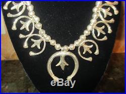 Xfine Rare Old Vintage Navajo Sterling Naja Necklace-108 Grams-a Beauty! No Res